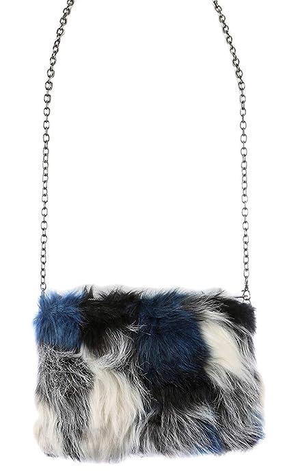 Image Unavailable. Image not available for. Color  Multi Color Faux Fur  Clutch Crossbody Shoulder Handbag ... d4ce363e3c