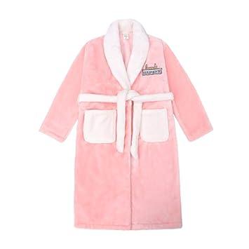 Camisones Bata de Noche Pijamas de niña Otoño e Invierno Engrosamiento de la Franela en la