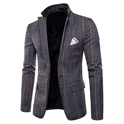 (Men's Blazer Jacket Herringbone Sport Coat Smart Formal Dinner Cotton Suits Slim Fit One Button Notch Lapel Coat)