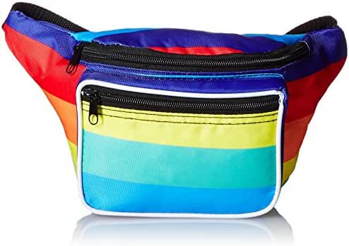 Neon Fanny Pack, 80's Style Waist Bag, 3 Pockets, Multiple Colors Available