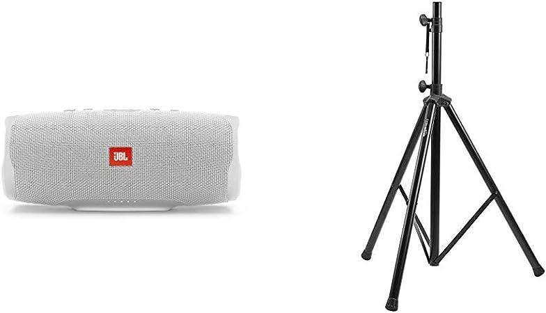 Jbl Charge 4 Bluetooth Lautsprecher In Weiß Wasserfeste Portable Boombox Mit Integrierter Powerbank Amazonbasics Verstellbarer Lautsprecherständer 120 Cm Bis 200 Cm Stahl Audio Hifi