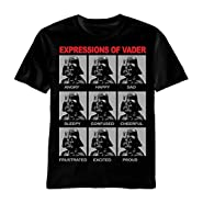 Authentic STAR WARS Expressions Of Darth Vader Sith T-Shirt S M L XL 2XL NEW