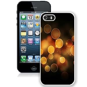 NEW Unique Custom Designed iPhone 5S Phone Case With Orange Bokeh Circles_White Phone Case