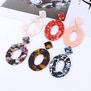 Gespout Leopard Print Earrings Creative Pendant Thin Women Jewellery Accessories Beach Travel Birthday Gift, Style 4, 6.8 * 4cm