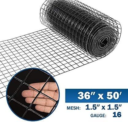 21 Gauge Vinyl Coated Wire Mesh Roll 150 ft x 2 ft x 1//2 in.