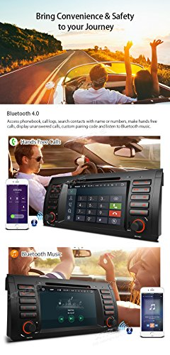 XTRONS Octa-Core 64Bit 2G RAM 32GB ROM 7 Inch Capacitive Touch Screen Car Stereo Radio DVD Player GPS CANbus Screen Mirroring Function OBD2 Tire Pressure Monitoring for BMW E53 X5 by XTRONS (Image #6)
