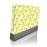 Lemon Lemon Lemons and More Lemons Pattern Wii Console Vinyl Decal Sticker Skin by Moonlight Printing