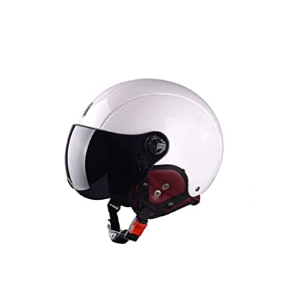 Blanco Four Seasons Casco De Moto Universal Casco Medio De Hombre Casco De Verano Casco De