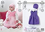 King Cole 4650 Knitting Pattern Babies Girls Dresses and Hats in Cherished DK by King Cole