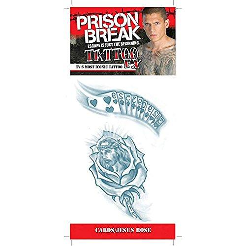 WonderCostumes Prison Break Cards and Jesus Rose Adult Tattoo