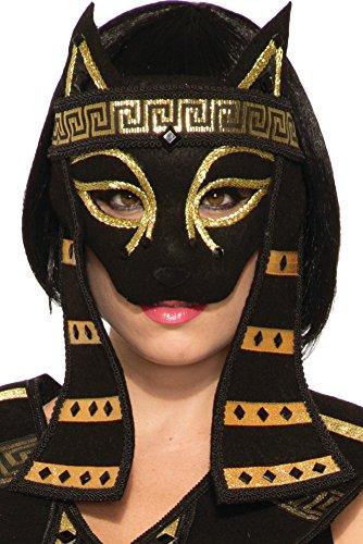 Mystical Creature Bastet Mask Women's Costume Accessory Black Cat Egyptian (Creature Masks)