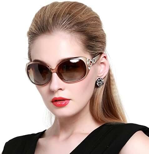Duco Women's Shades Classic Oversized Polarized Sunglasses 100% UV Protection 1220