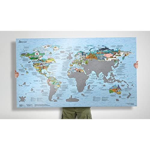 On sale world scratch map bucket list travel map w149736 www on sale world scratch map bucket list travel map gumiabroncs Image collections