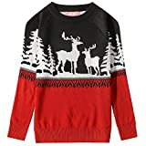 Product review for Camii Mia Big Girls' Reindeer Pullover Crewneck Ugly Christmas Sweater