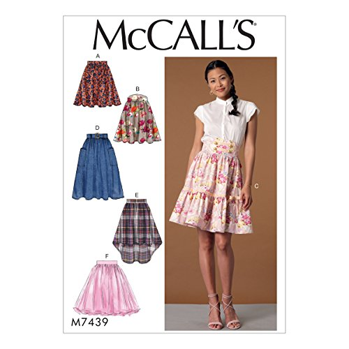 McCall Patterns M7439A50 Misses' Gathered and Flared Skirts with Belt