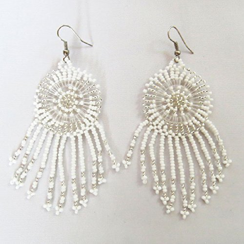 African Zulu beaded earrings - Dreamcatchers (small) - Cloud Collection - Gift for (Clouds Collection)