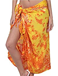 Ingear Print Sarong Summer Beachwear Wrap Skirt Pareo Handmade Swimsuit Cover Up