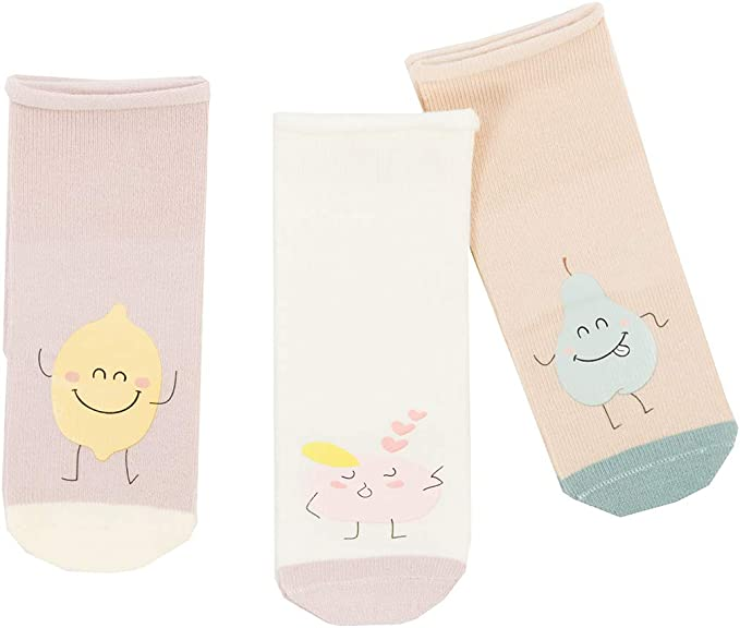 Girls Soft Cotton Comfortable Warm Cute Cat Fashion Knee High Socks 3 Prs Packed