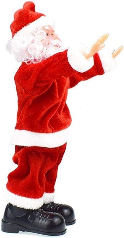 Juguete de Regalo AAGOOD-30CM Santa Claus Salto del Truco ...