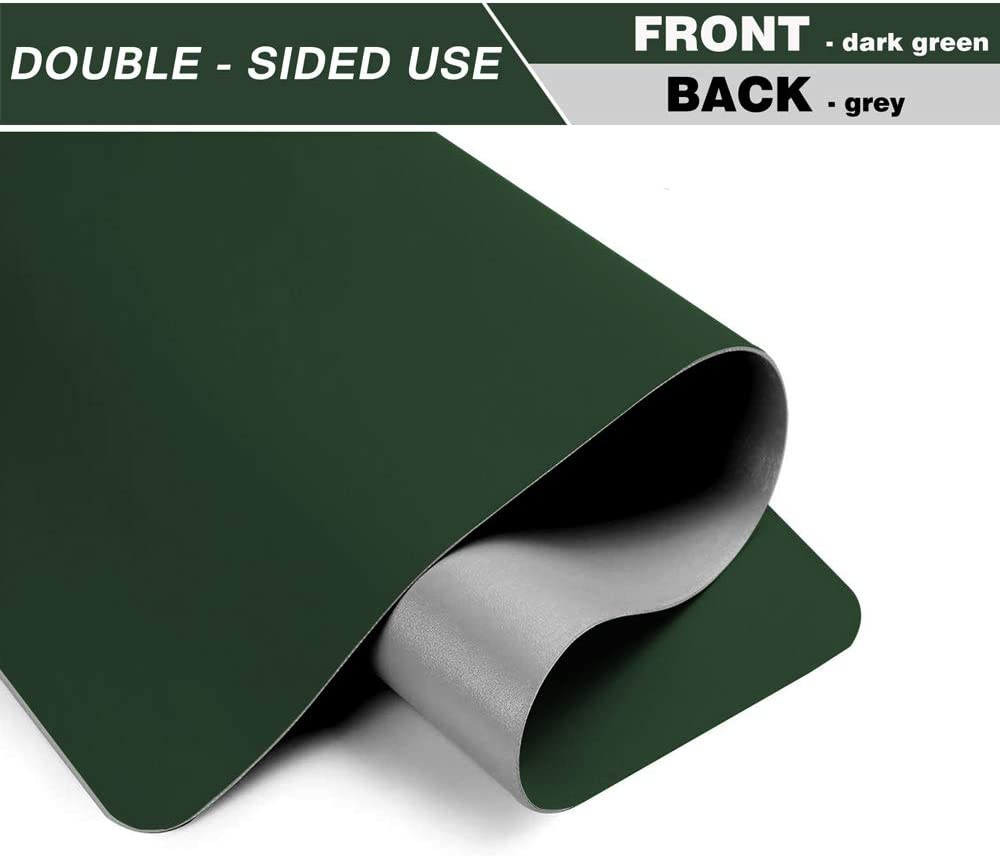 "BUBM Desk Pad Protector 35.4"" x 17"", PU Leather Desk Mat Blotters Organizer with Comfortable Writing Surface(Dark Green) : Office Products"