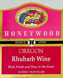 NV Honeywood Winery Rhubarb Fruit Wine 750 mL
