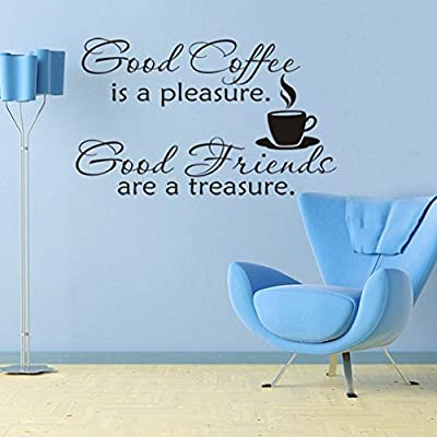 Sunward New Good Coffee Cups Kitchen Wall Sticker Quotes Decal Art Cafe Art Home Mural
