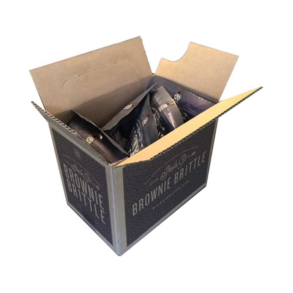Sheila Gs Dark Chocolate Chip Sea Salt Brownie Brittle, 5 Ounce - 6 per case.