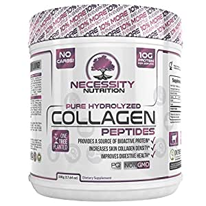 Collagen Peptides Powder Pure Hydrolyzed - Non GMO Grass Fed Pasture Raised Bovine Hide Premium Quality Protein - Gluten Free Paleo/Keto Friendly 17.64oz Supplement Healthy Skin Hair Nails Best Value