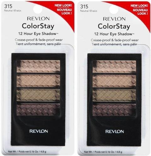 Revlon Colorstay 12 Hour Eye Shadow Quad #315 NEUTRAL KHAKIS (PACK OF 2) by A Line Furniture