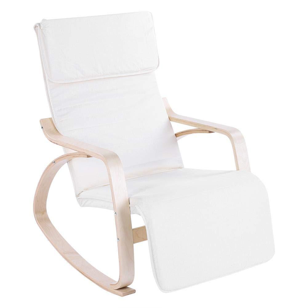 Beige EBTOOLS Sill/ón Mecedora C/ómodo Durable Silla de Relax Ergon/ómico Moderno Muebles de Oficina Casa
