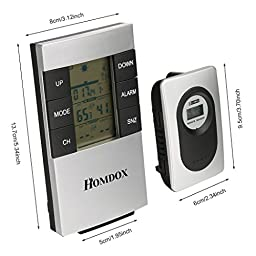 Homdox H146G wireless weather station Thermometer Hygrometer Monitor greenhouse storage area