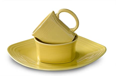 Fiesta 3-Piece Square Place Setting Sunflower  sc 1 st  Amazon.com : fiesta square dinnerware sets - pezcame.com