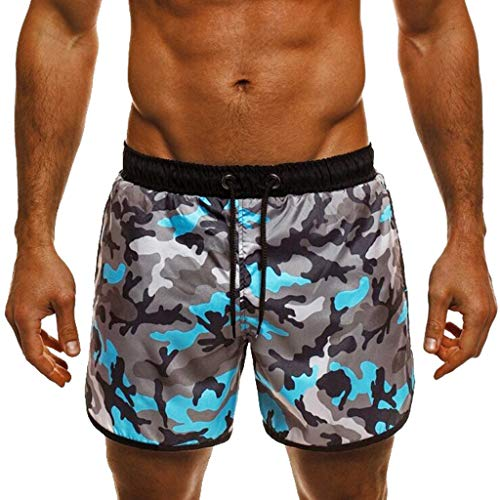 (YKARITIANNA Men's Sportwear Quick Dry Board Shorts with Lining 2019 New Pants Camouflage)