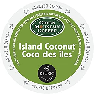 Green Mountain Coffee K-Cup for Keurig K-Cup Brewers, Island Coconut Seasonal from Green Mountain Coffee