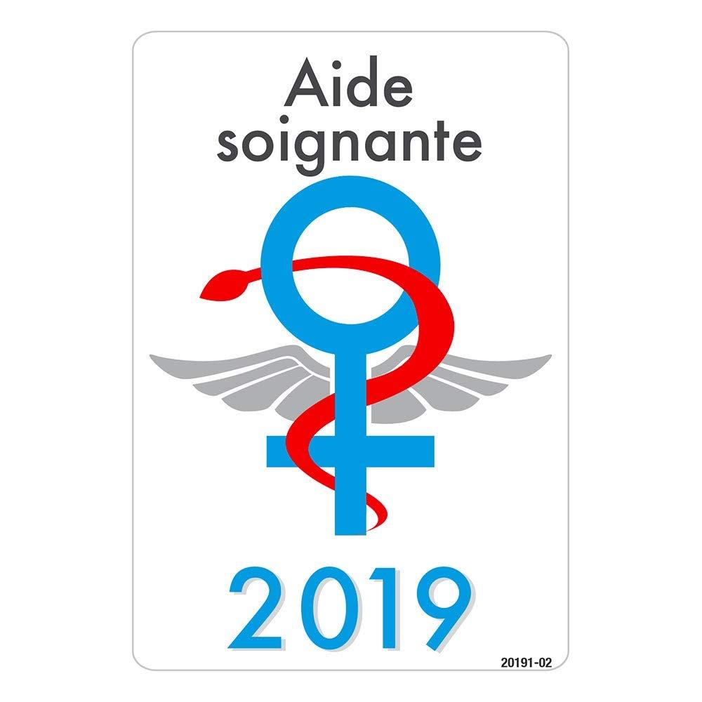 Label blouse Caducé e Signe Femme Aide Soignante 2019 Fabrication Francaise
