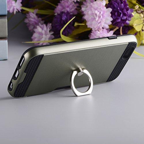 Protege tu iPhone, Para el iPhone 7 de textura de metal de nuevo con la caja de soporte titular de anillo y ranura para tarjetas Para el teléfono celular de Iphone. ( SKU : Ip7g5016h ) Ip7g5016dg
