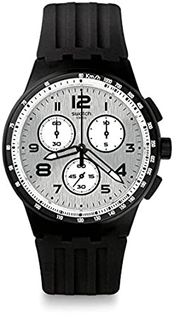Swatch Mens Originals SUSB103 Black Rubber Swiss Quartz Dress Watch