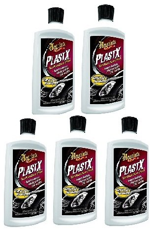 Meguiars G12310 PlastX Clear Plastic Cleaner and Polish, PSCUye 5 Pack(10 ounce)