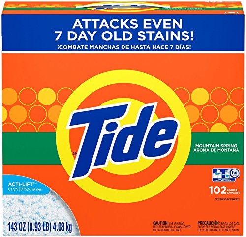 Tide Powder Laundry Detergent, Mountain Spring, 102 Loads 14