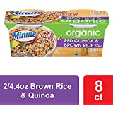 Minute Ready To Serve Organic Red Quinoa & Brown Rice With Garlic, 2/4.4-Ounce Cups (Pack of 8)
