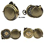 ManChDa Men's Vintage Archaize Bronze Hide Carved Steampunk Chain Mechanical Pocket Watch in Gift Box 8