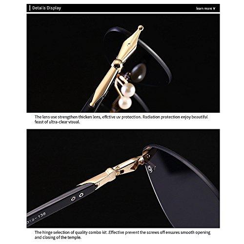 Noir Protection Ultra Triangle Perle Plage Soleil Wenjack Plein Femmes pour Lunettes Été Air Les en Femmes Hommes Yeux Chat de UV pour Personnalité Conduite Vacances légères Petit YxpFT