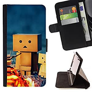 DEVIL CASE - FOR Samsung Galaxy S6 EDGE - 3D Figurine Friendship Camping Play Art - Style PU Leather Case Wallet Flip Stand Flap Closure Cover
