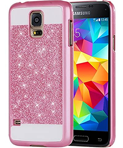 Galaxy S5 Case, S5 Case, Samsung S5 Case, BENTOBEN Sparkle Glitter Bling Luxury Ultra Slim Hard Cover Laminated with Shiny Faux Leather Protective Case for Samsung Galaxy S5, Rose (Best Samsung S5 Case)