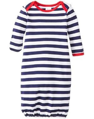 Baby-Girls Newborn Primary Stripe Gown