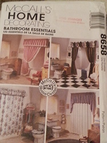 McCall's Home Decorating Bathroom Essentials Sewing Pattern 8658