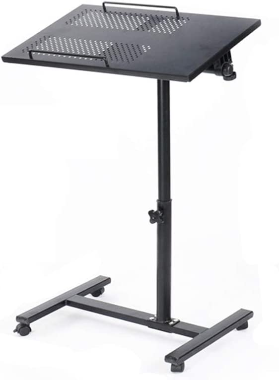 LHA Escritorio móvil Soporte de Escritorio Altura Ajustable 60-90cm 4 Ruedas (con Dispositivo de Bloqueo) Tabla: Amazon.es: Electrónica