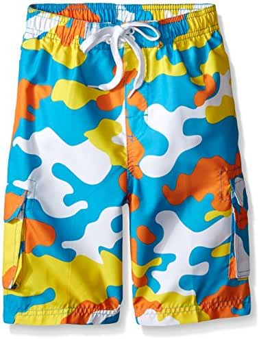 Kanu Surf Boys' Camo Swim Trunk