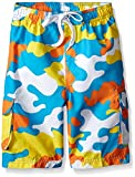 Kanu Surf Boys' Big Specter Quick Dry UPF 50+ Beach Swim Trunk, Camo Aqua, 18/20