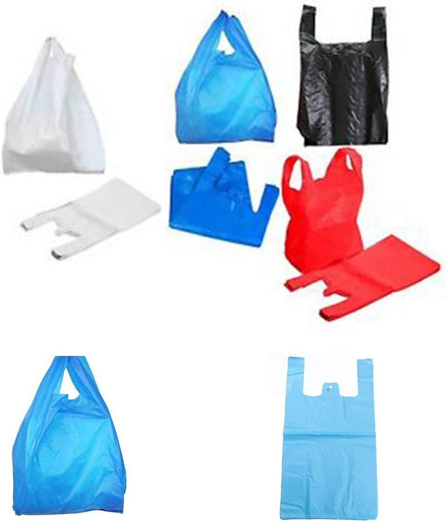 "18MU NEW 200 WHITE VEST STYLE CARRIER BAGS PLASTIC POLYTHENE 12/"" x 18/"" x 24/"""